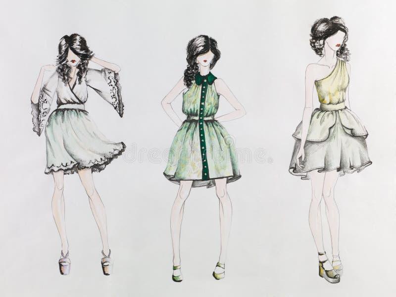 Creaciones de la moda ilustración del vector