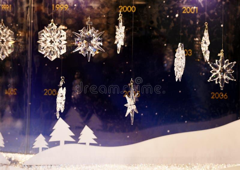 Creaciones de la Navidad de Swarovski imagen de archivo