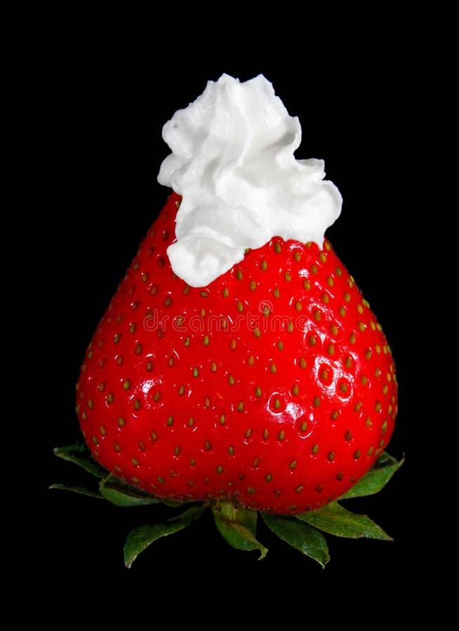 cream взбитая клубника стоковая фотография rf