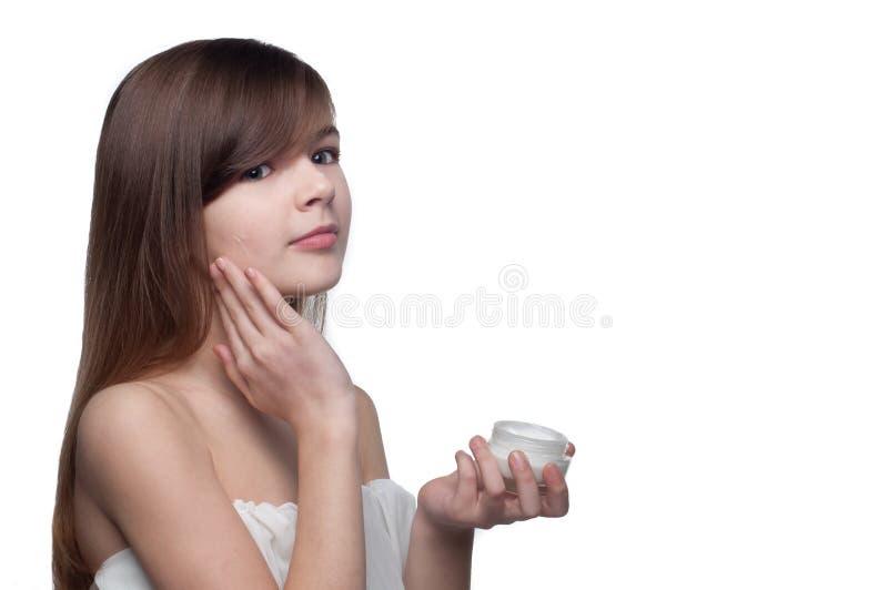 cream девушка стоковая фотография