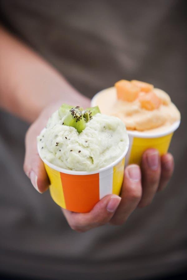 cream киви льда плодоовощ стоковое изображение rf