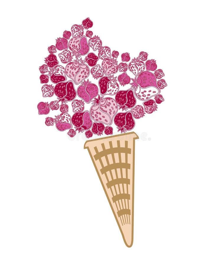 cream клубника льда бесплатная иллюстрация