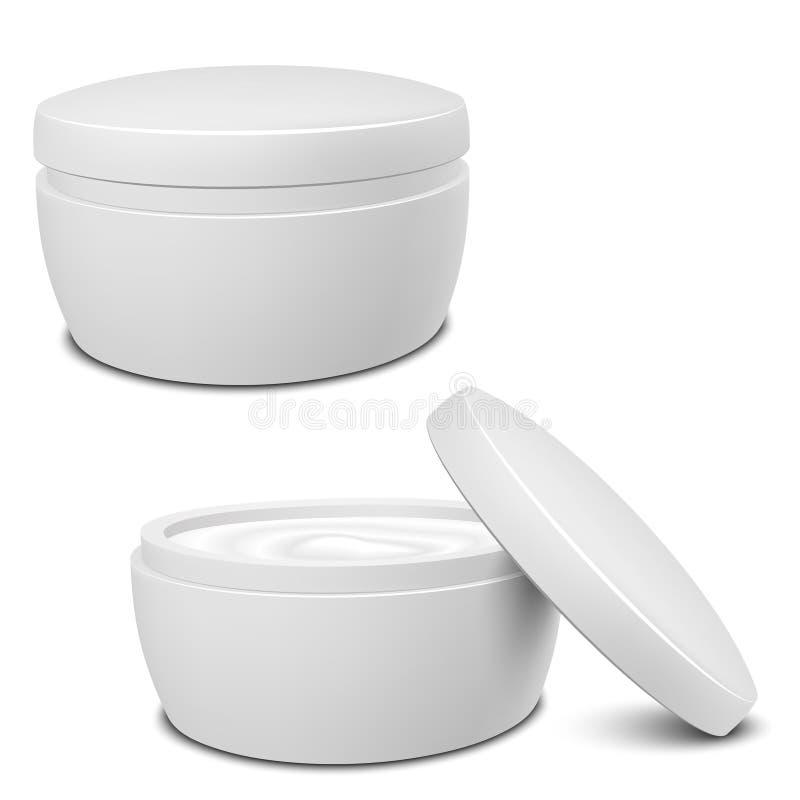 Cream контейнер иллюстрация вектора