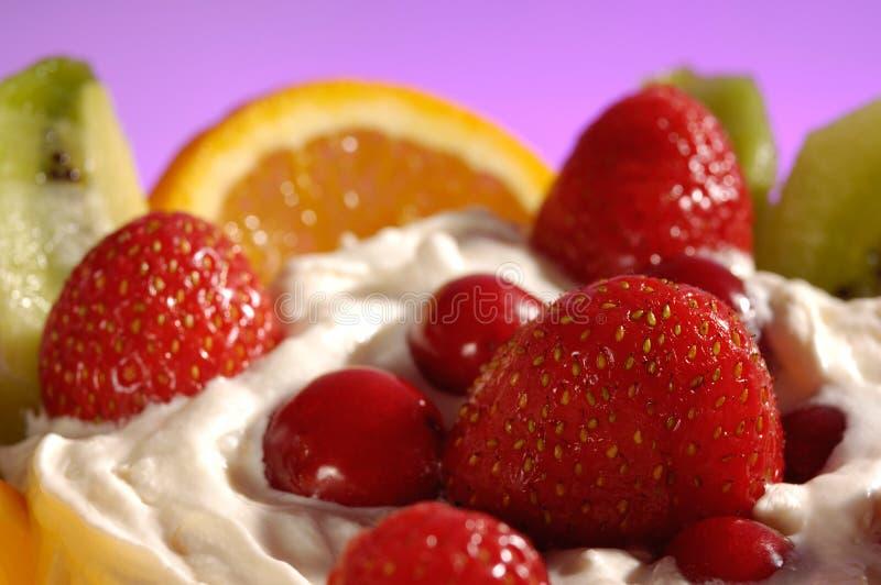 cream льдед плодоовощ стоковая фотография rf