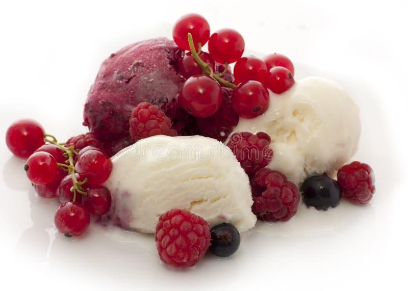 cream льдед плодоовощ стоковое изображение