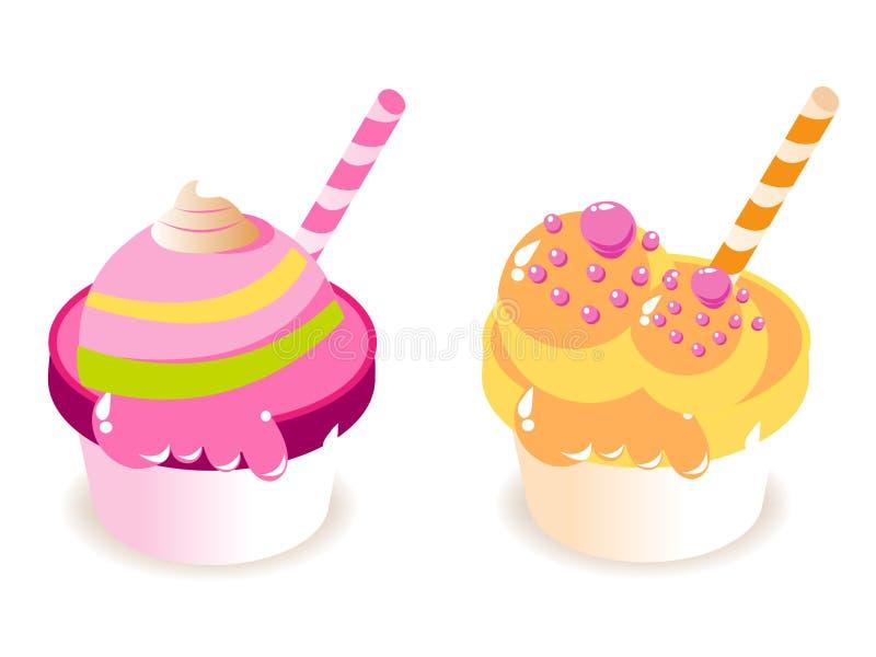 cream льдед иллюстрация вектора