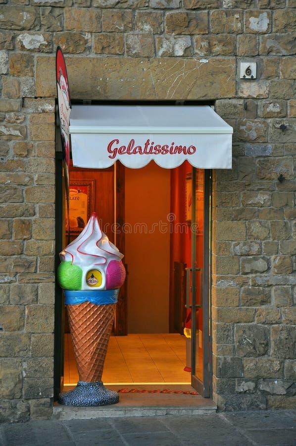 cream магазин льда стоковое изображение