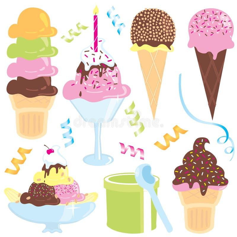 cream партия льда бесплатная иллюстрация