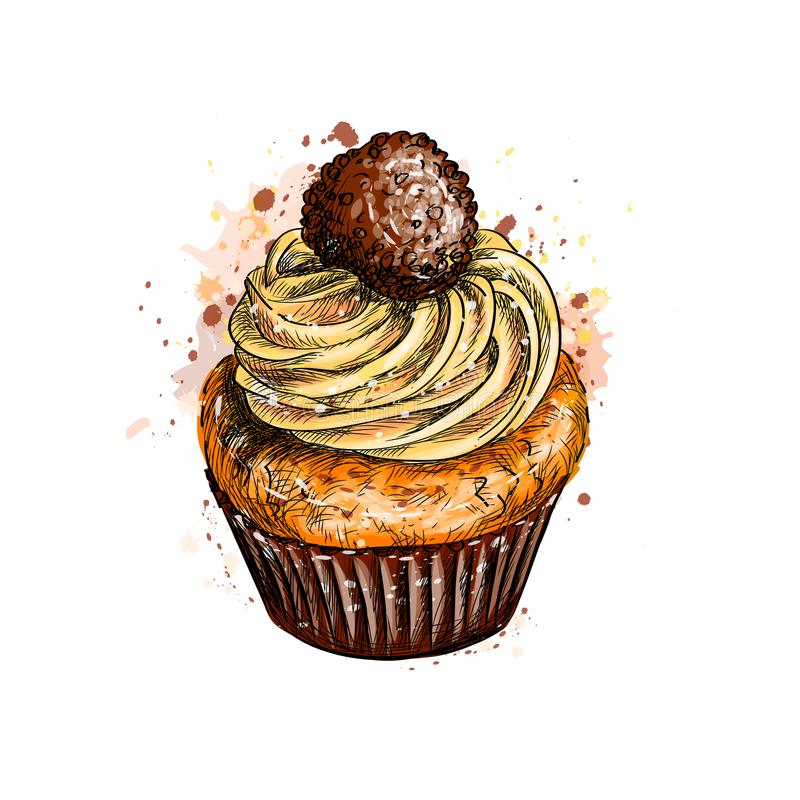 cream пирожне бесплатная иллюстрация