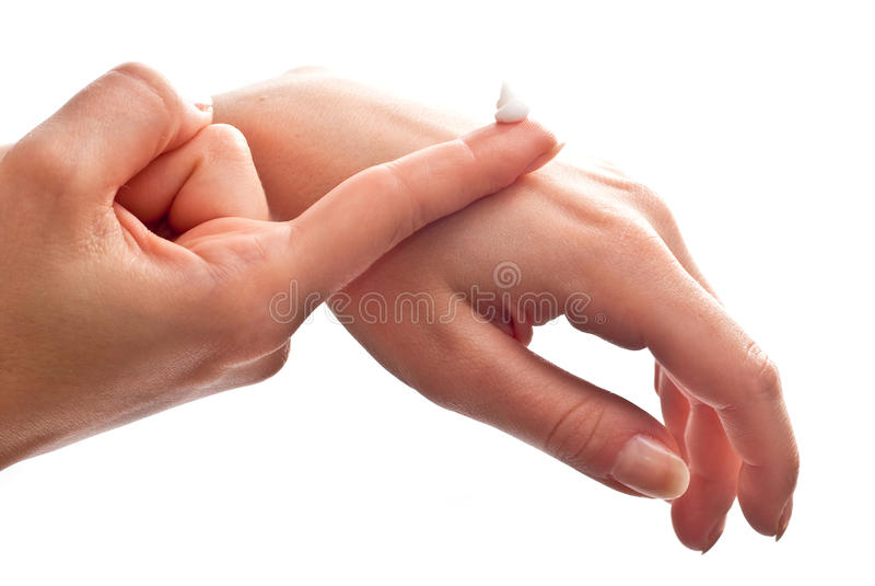 cream рука стоковое изображение
