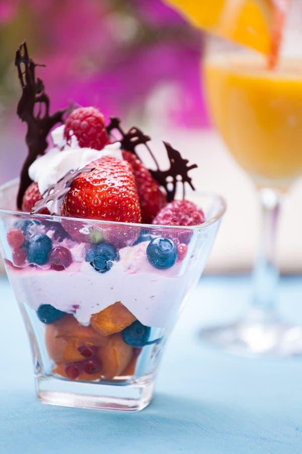 cream салат льда плодоовощ стоковое изображение