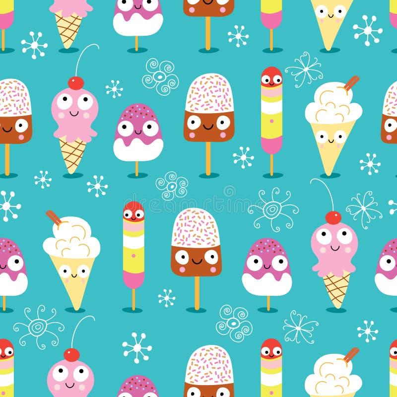 cream смешная текстура льда иллюстрация штока