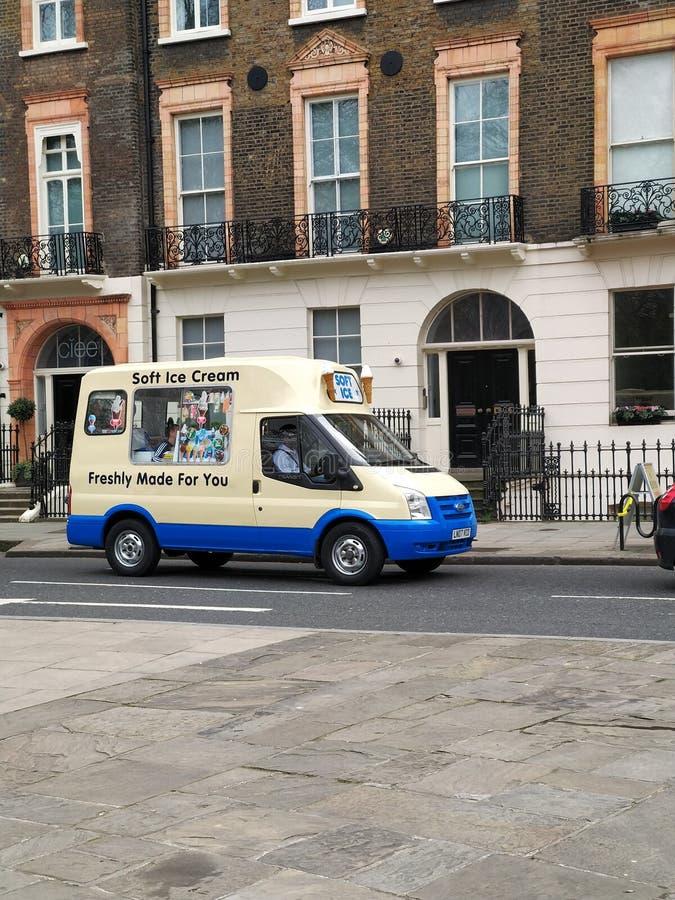 cream фургон льда стоковые изображения rf