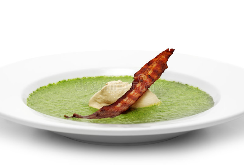 cream шпинат супа стоковое фото