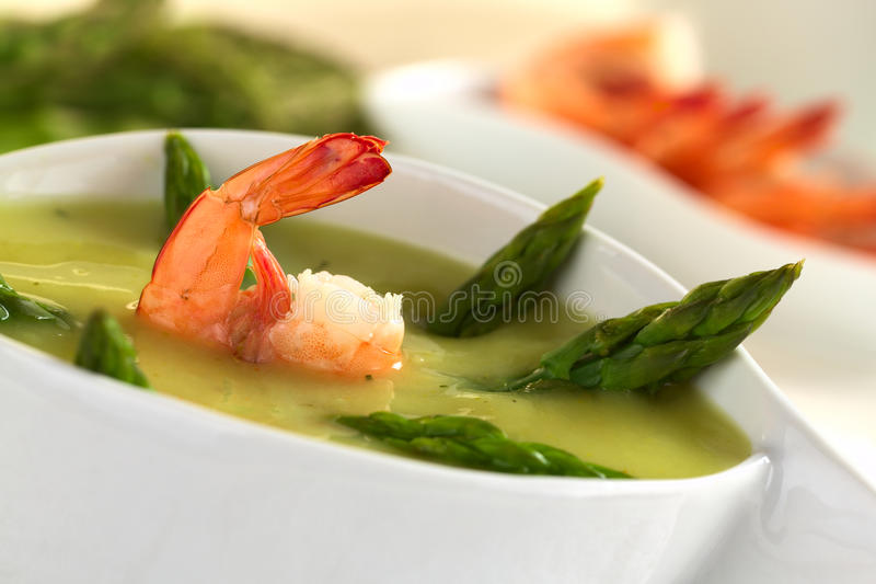 Download Cream Of Asparagus With Shrimp Stock Photo - Image: 22526128