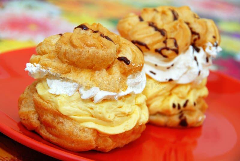 Cream cakes royalty free stock photography