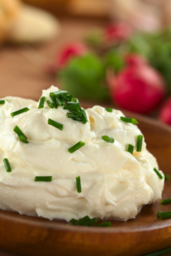 Download Cream Cheese with Chives stock image. Image of radish - 25939485