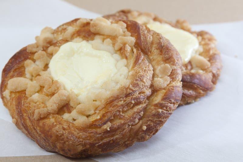 Cream cheese danish pastry royalty free stock image