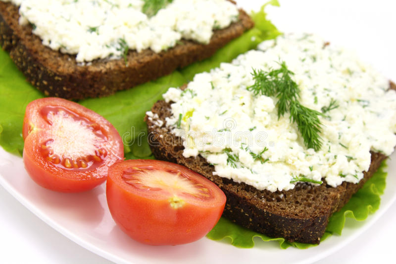 Download Cream Cheese Sandwich stock image. Image of cream, fresh - 12917931