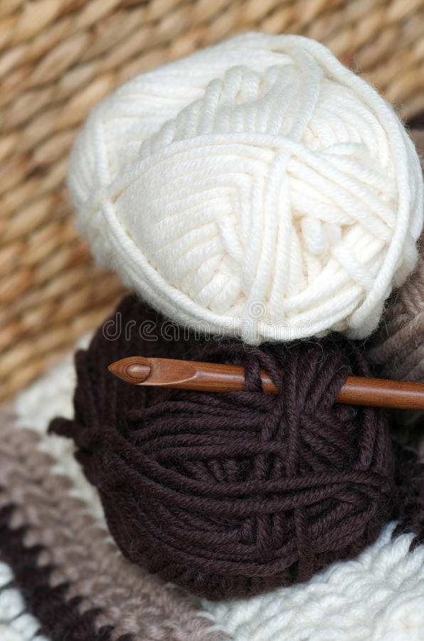 Download Yarn stock image. Image of double, cream, hobby, project - 29865927