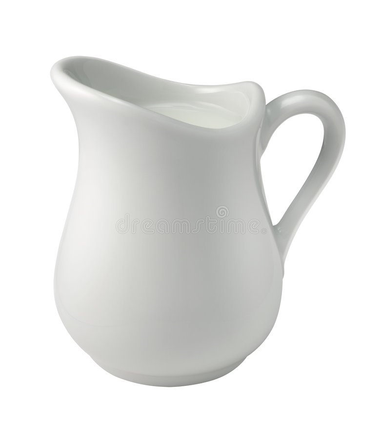 Cream (Creamer) (with clipping path). Cream in a Creamer isolated with a clipping path. Isolation is on a transparent layer in the PNG format stock images