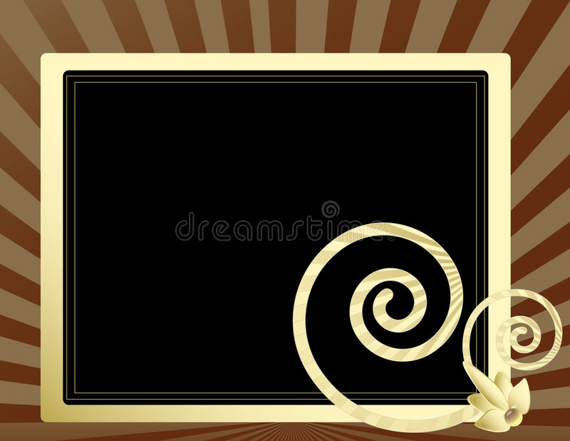 Cream frame on rays 3 vector illustration