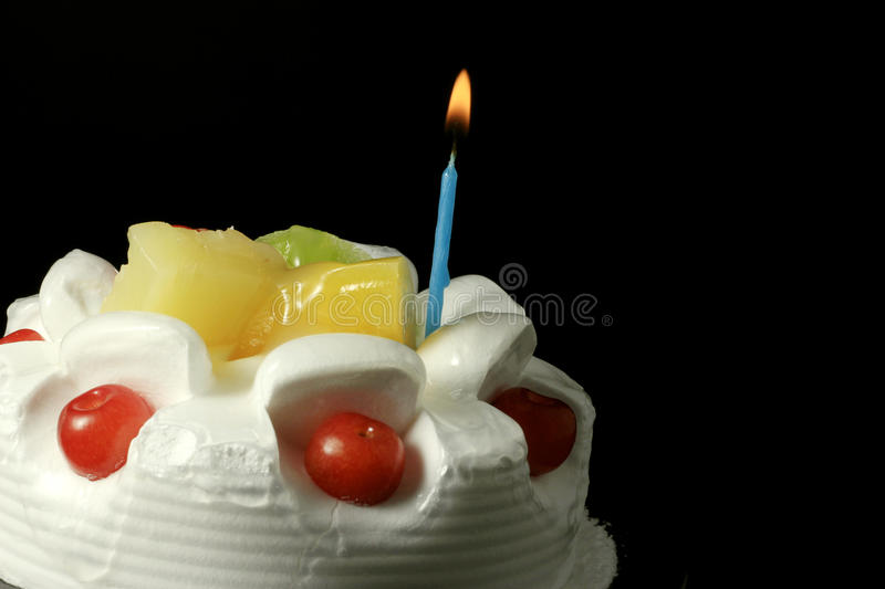 Cream fruit cake royalty free stock photos