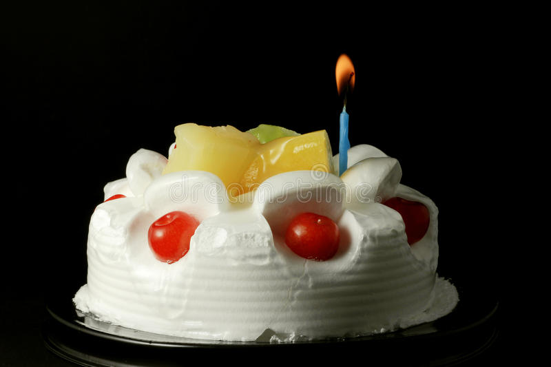 Cream fruit cake 1 royalty free stock images