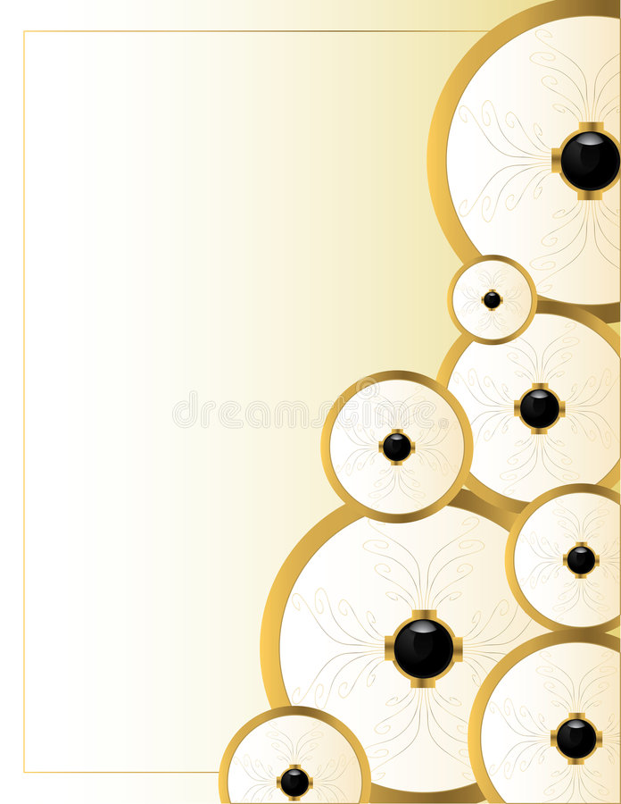 Download Cream gold background 9 stock vector. Illustration of border - 8025230