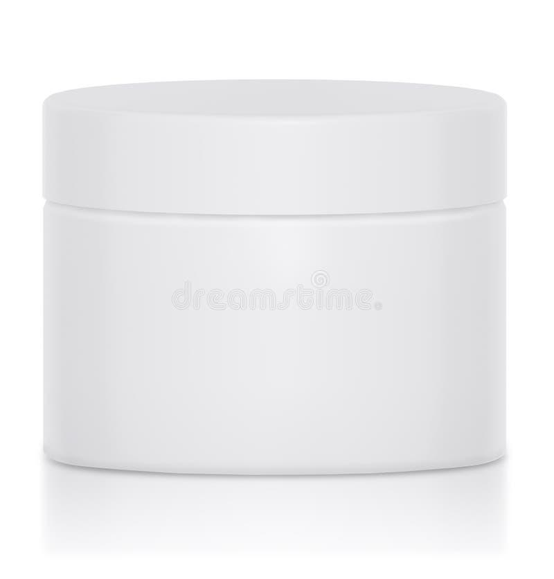 Cream Jar Blank Logo royalty free illustration