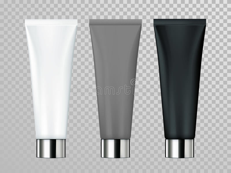 Cream or lotion tube vector skin care cosmetic package template royalty free illustration