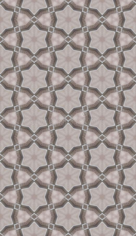 Cream metallic mesh. Figure combine metal and soft matter. Metal verge form flowers. Lighting inside. Maternity and Paternity. Chiaroscuro blurred. Hexagons form royalty free stock photography