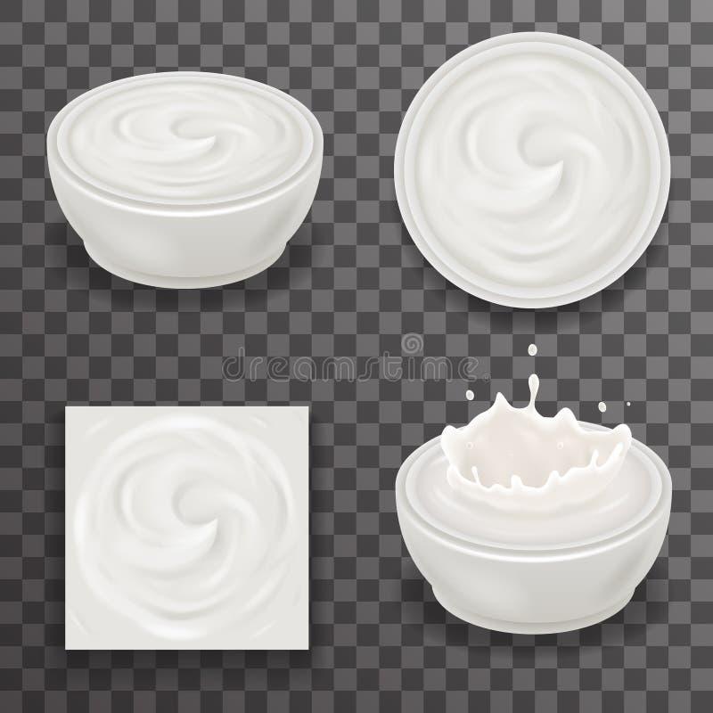 Free Cream Milk Curl Splash Drops Realistic Transparent Background 3d Design Vector Illustration Stock Images - 79117324