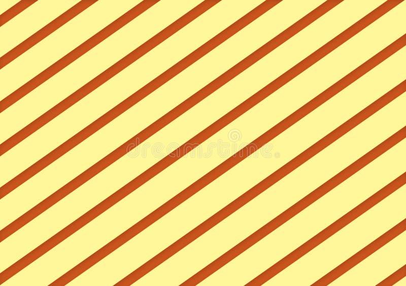 Cream and orange diagonal striped background design vector illustration