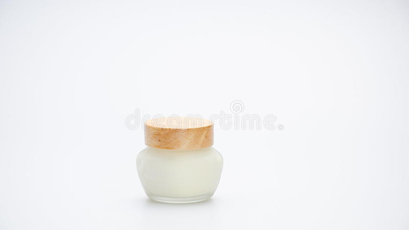 Cream Packaging on white royalty free stock images