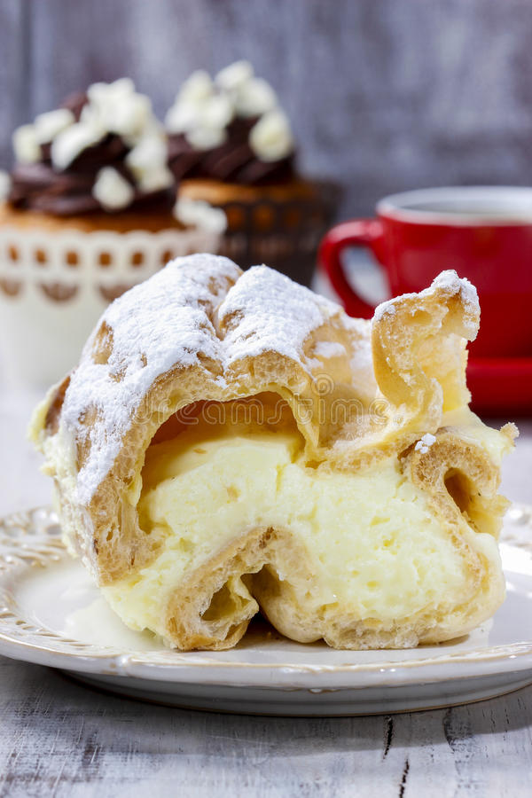 Download Cream puff stock image. Image of candy, gray, fancy, eclairs - 39508513