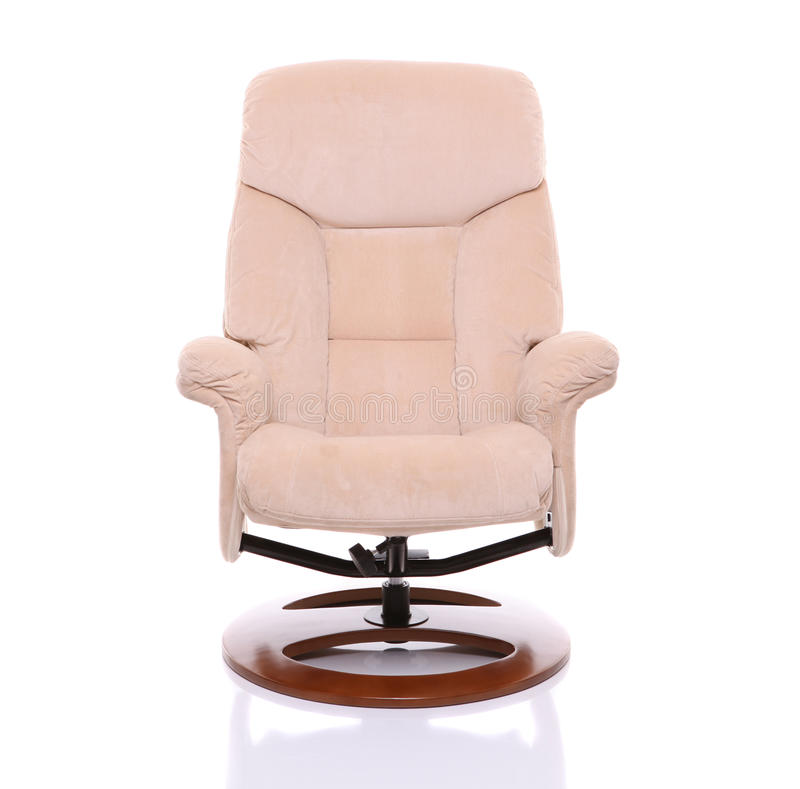 Cream suede recliner chair