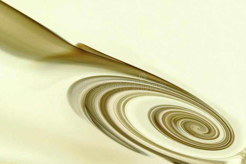 Cream Swirl Stock Photography
