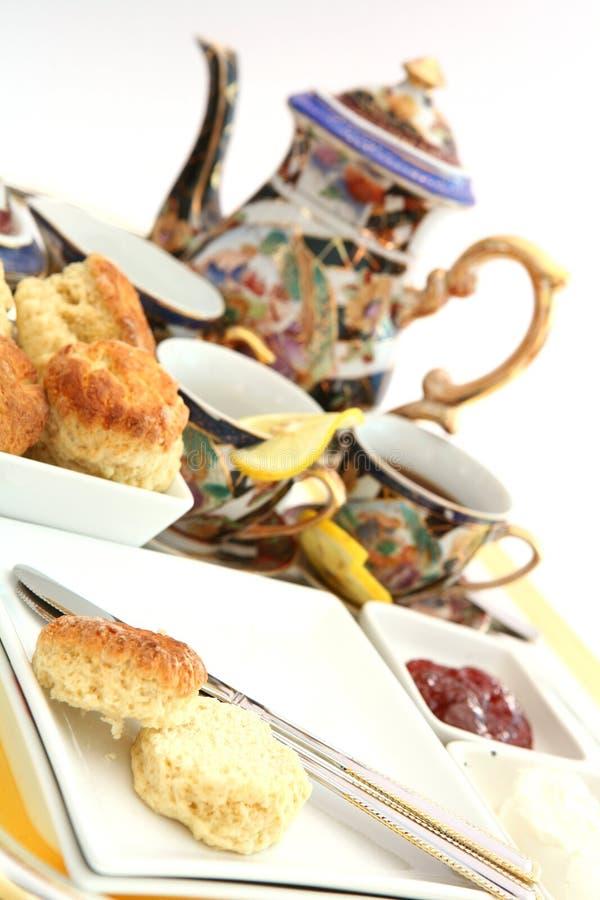 Cream tea 2 stock photo