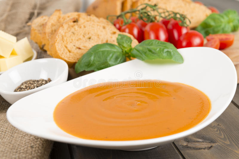 Download Cream of Tomato Soup stock photo. Image of butter, basic - 32833938