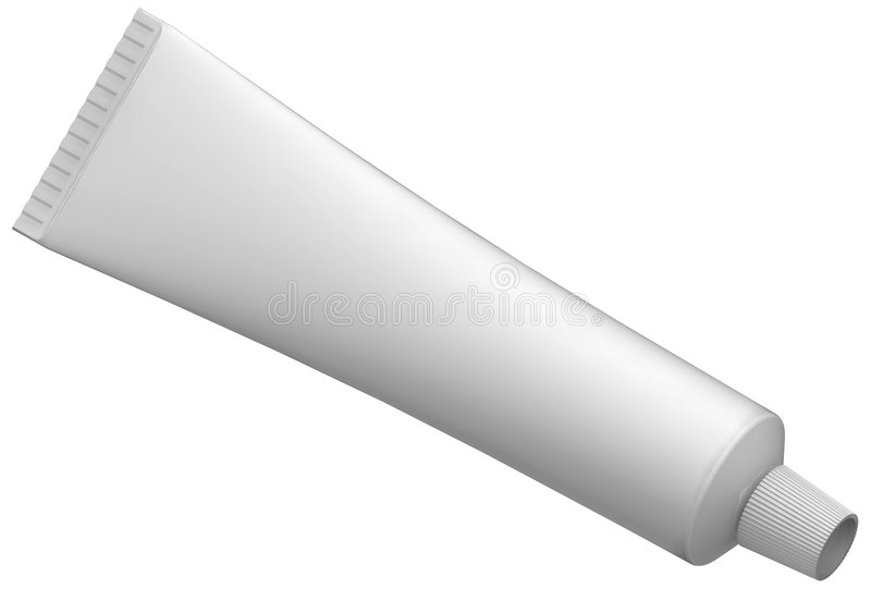 Cream Tube. Hand made clipping path included vector illustration