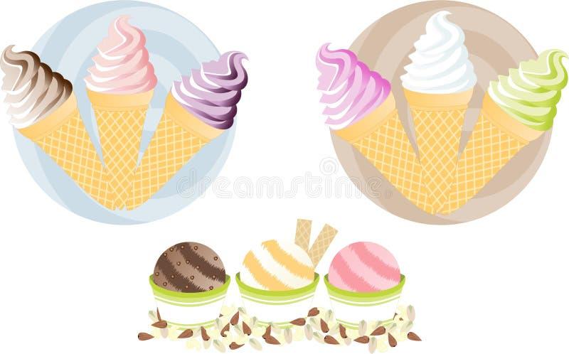 creams льдед yummy иллюстрация штока