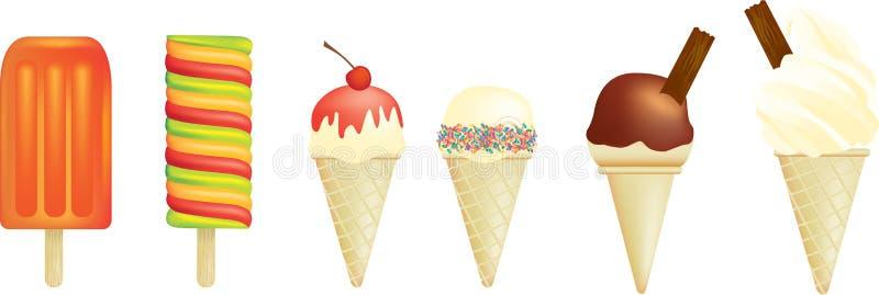 creams lolly льда иллюстрация вектора