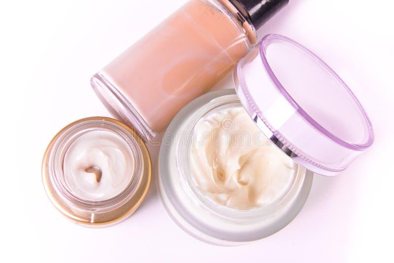 Creams and makeup royalty free stock photo