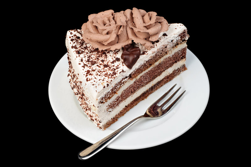 Creamy and chocolate tart royalty free stock image