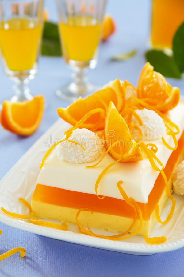 Free Creamy Orange Jelly Stock Photography - 42459132