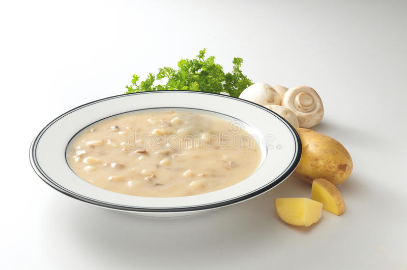 Download Creamy Potato Mushroom Soup Stock Photo - Image: 25869670