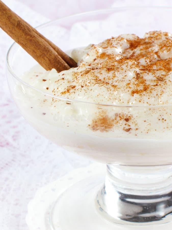 Creamy Rice Pudding stock image