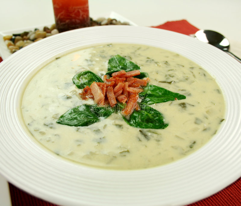 Download Creamy Spinach Soup stock photo. Image of delectable, nourishing - 5712818