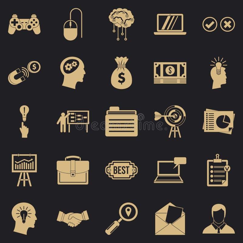 Creando los iconos del juego fijados, estilo simple ilustración del vector